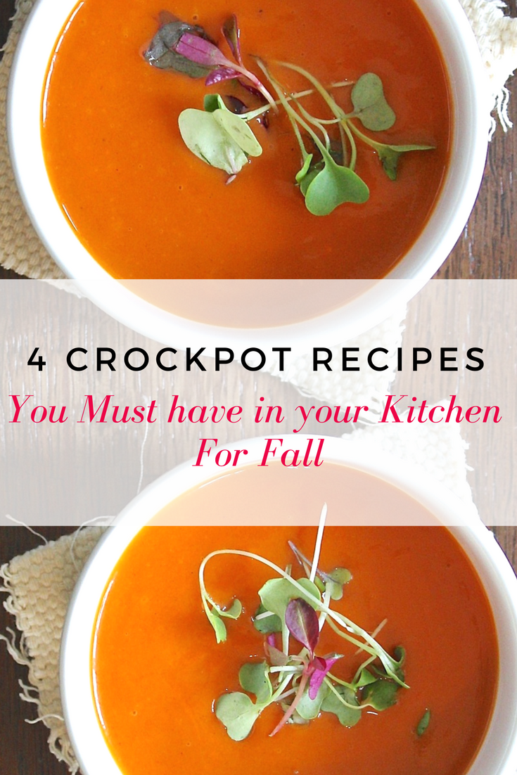 The first day of fall healthy and easy crockpot recipes including soups and freezer options
