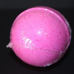pink lily , strawberry, pink grapefruit bath bomb