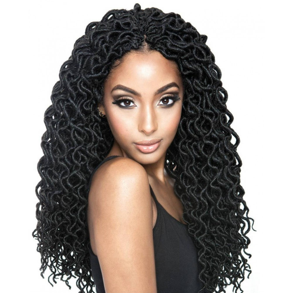 Curly Faux locs hair from black hairspray