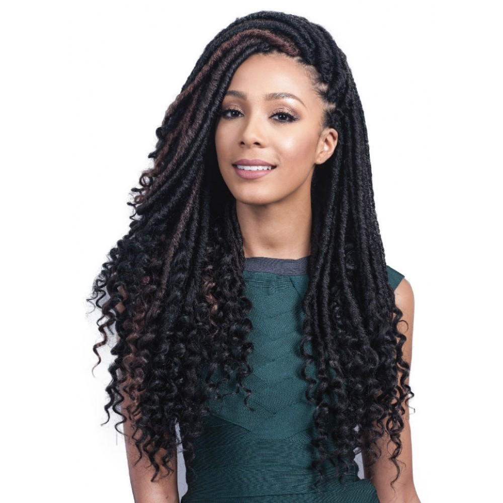 goddess faux locs hair from black hairspray