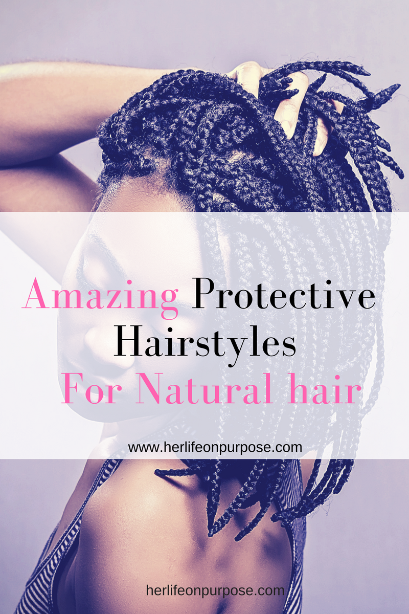 Protective hair styles with wigs braids and faux locs