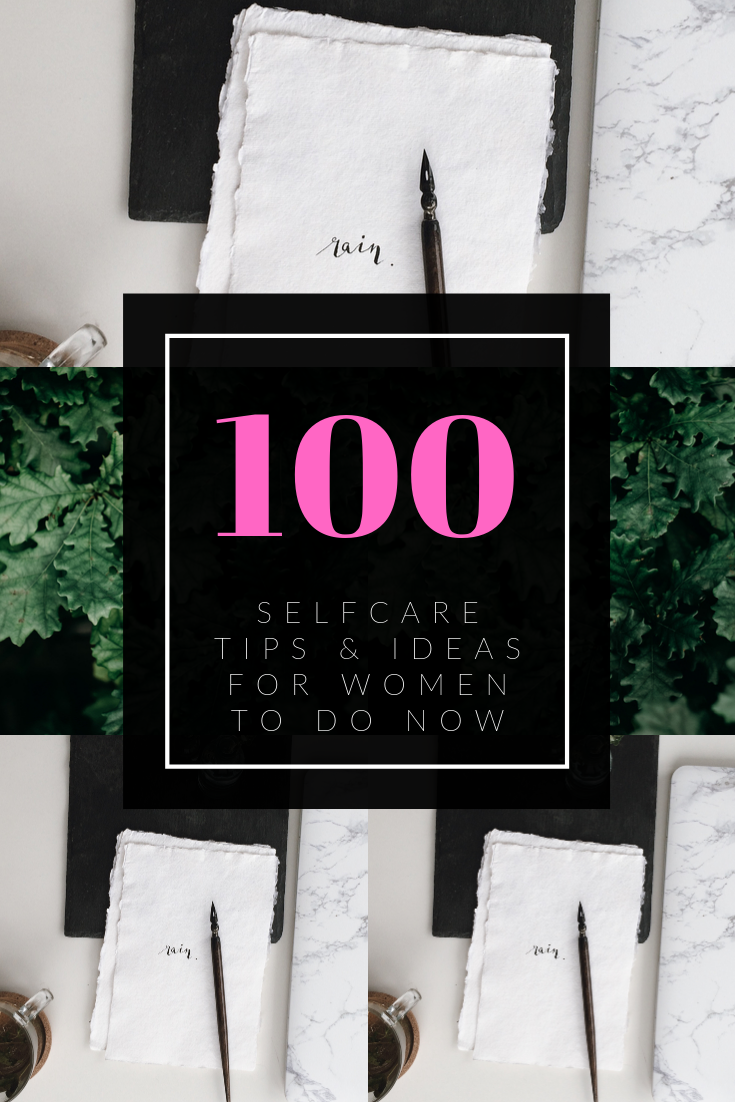 Pinterest image about 100 self case tips for women