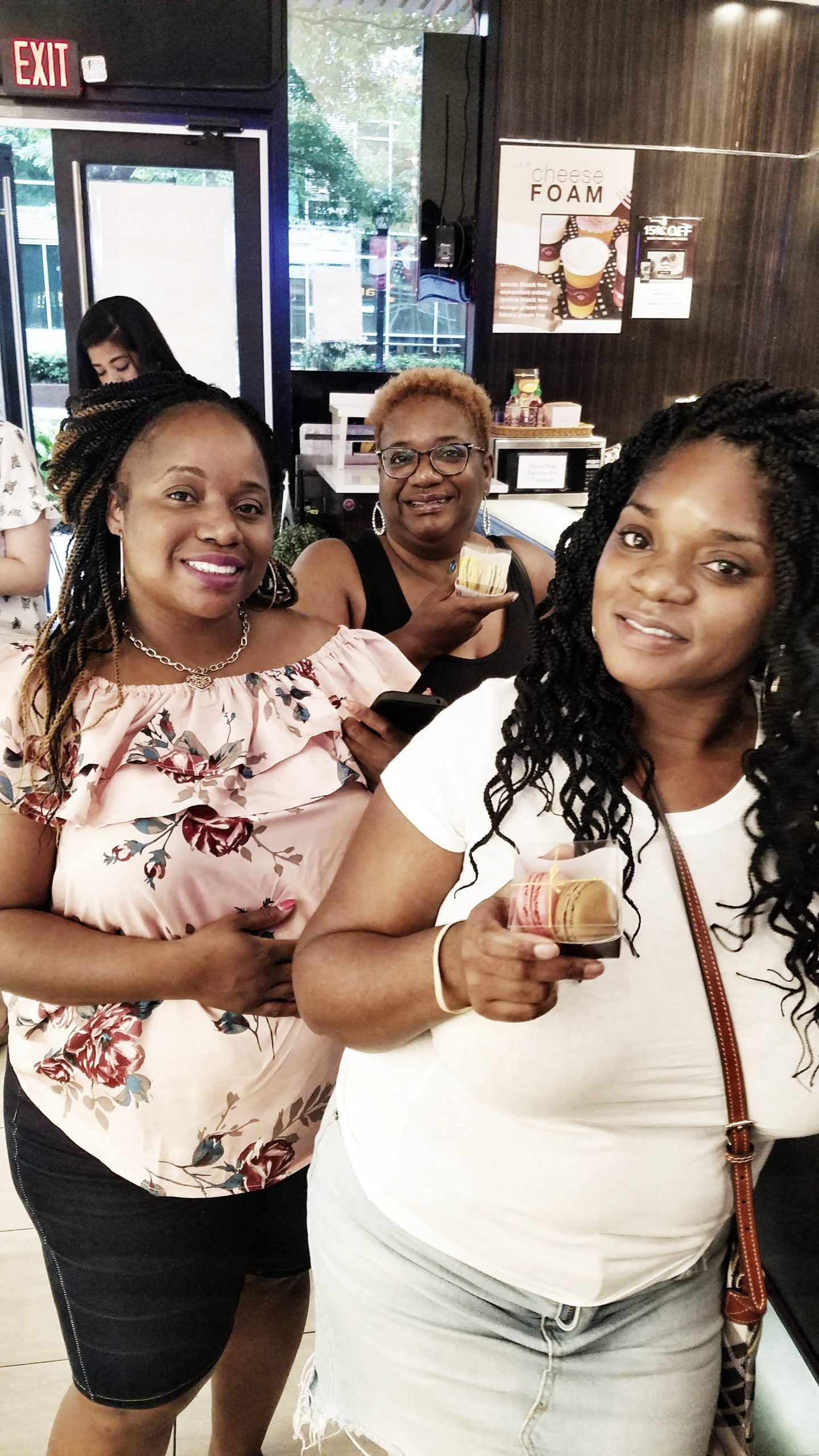 Women in line at Sweet Hut Bakery in Atlanta Ga