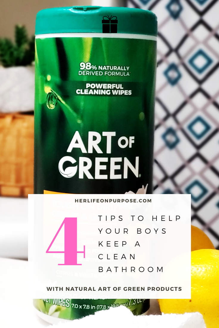 art of green cleaning wipes picture for Pinterest